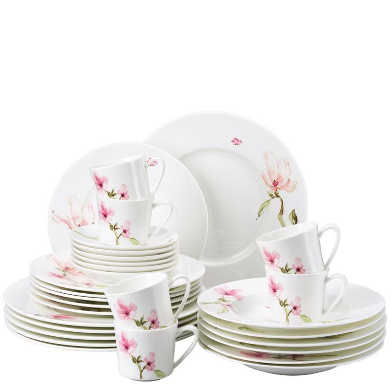 rosenthal jade magnolie kombi set 30 tlg service kaffee u. Black Bedroom Furniture Sets. Home Design Ideas