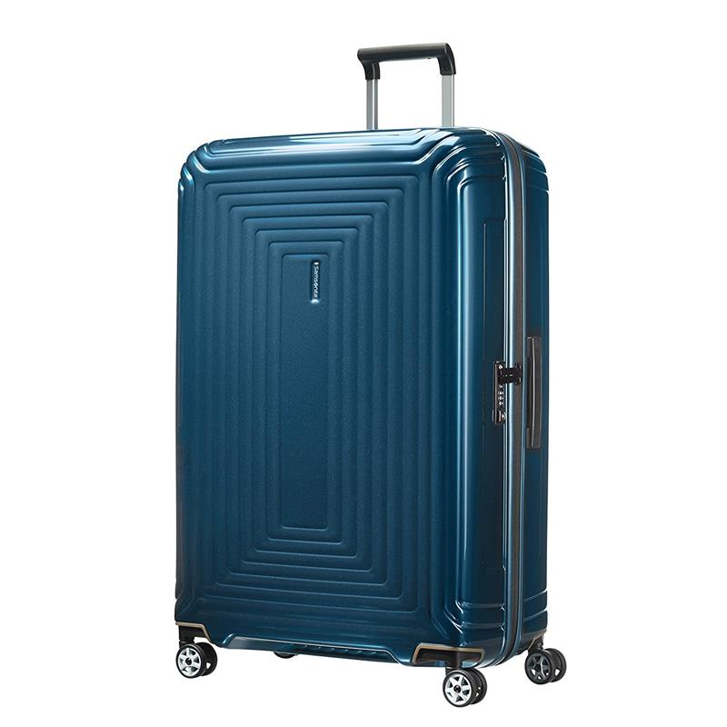 samsonite neopulse spinner 81 30 metallic blue. Black Bedroom Furniture Sets. Home Design Ideas