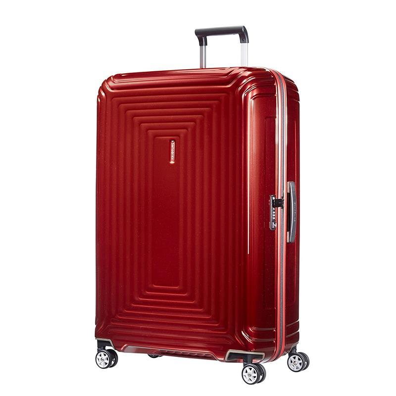 samsonite neopulse spinner 81 30 metallic red. Black Bedroom Furniture Sets. Home Design Ideas