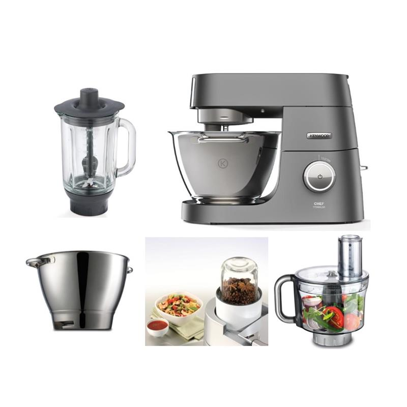 kenwood k chenmaschine chef titanium kvc7320s mit zubeh r kvc7411s. Black Bedroom Furniture Sets. Home Design Ideas