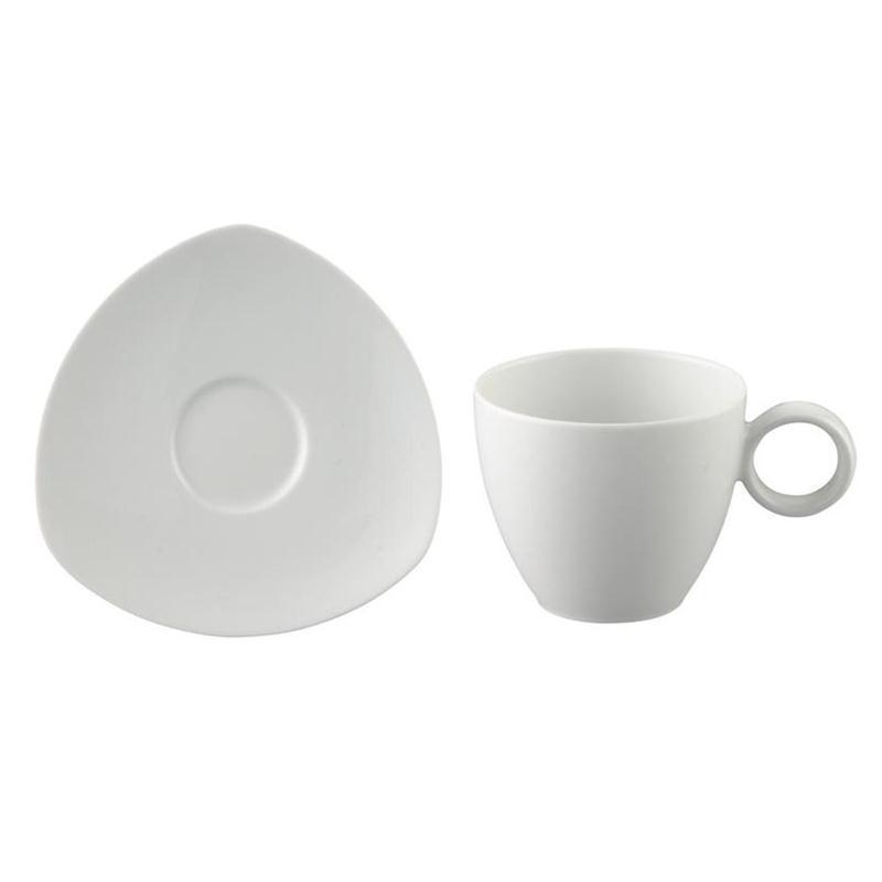 Thomas Vario Pure Kaffeetasse 2 tlg.mit eckiger Untertasse Tasse