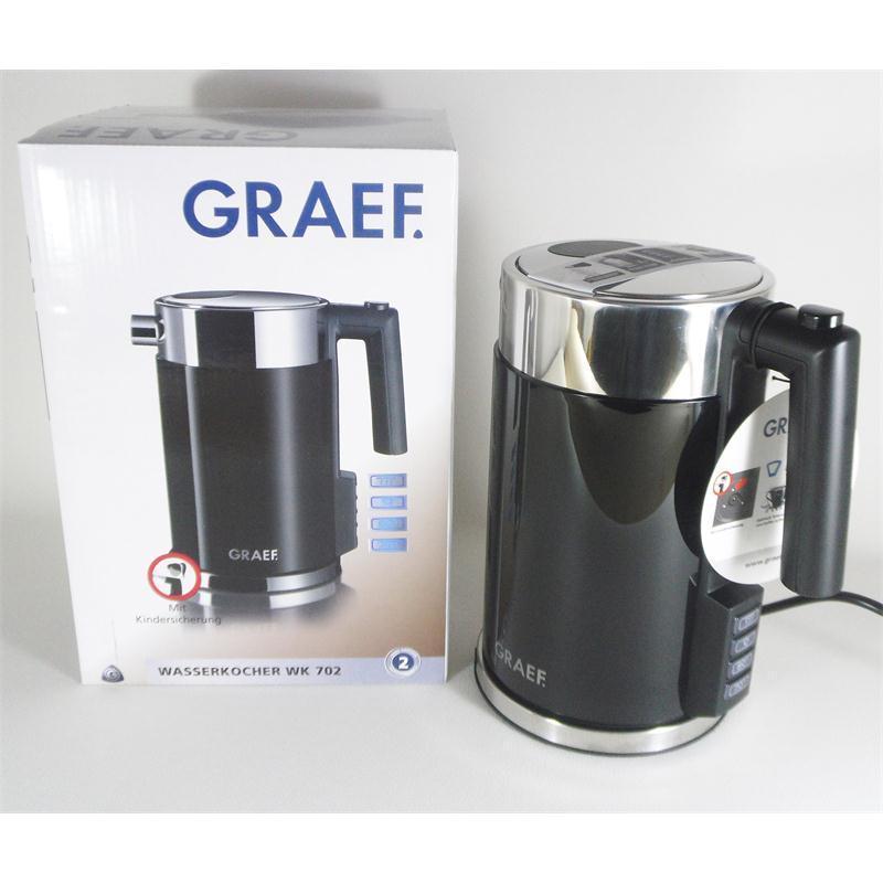 Graef Wasserkocher 1,5 Liter WK702EU schwarz