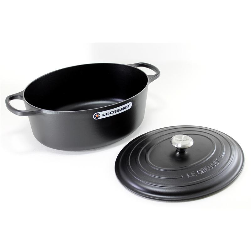 le creuset signature br ter oval 27 cm schwarz. Black Bedroom Furniture Sets. Home Design Ideas