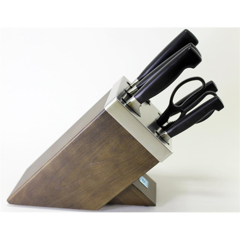 zwilling vier sterne messerblock 7 tlg mit kis technologie 35145 000. Black Bedroom Furniture Sets. Home Design Ideas